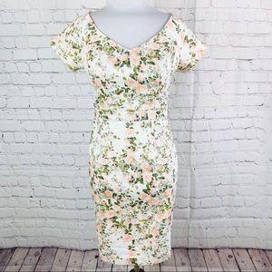 Elegant Rose Garden Short Sleeve Dress